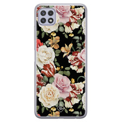Casimoda Samsung Galaxy A22 5G siliconen hoesje - Flowerpower