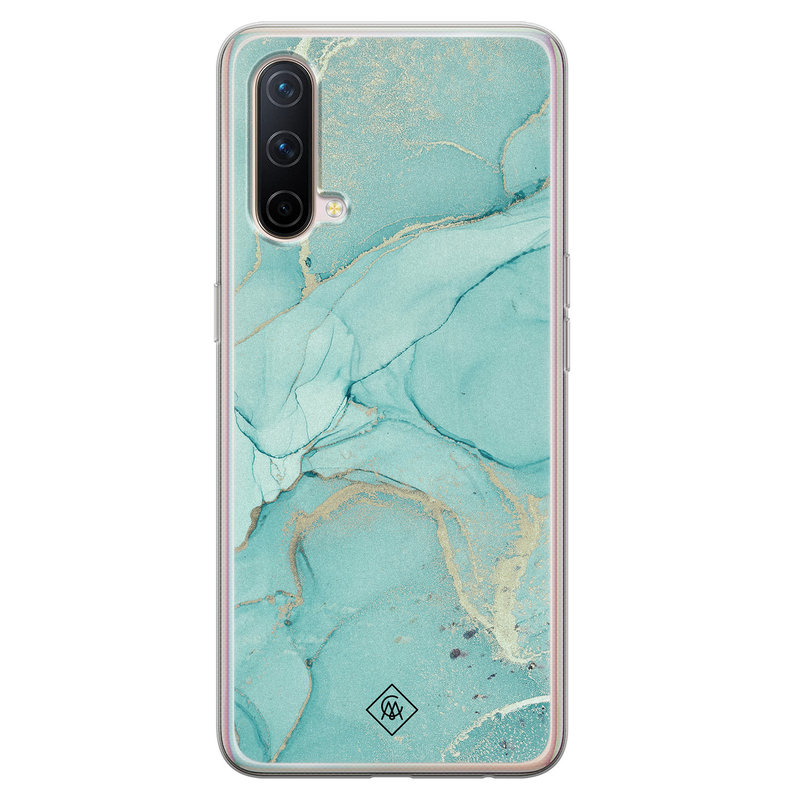Casimoda OnePlus Nord CE 5G siliconen hoesje - Touch of mint