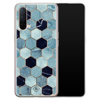 Casimoda OnePlus Nord CE 5G siliconen hoesje - Blue cubes