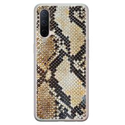 Casimoda OnePlus Nord CE 5G siliconen hoesje - Golden snake
