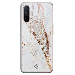 Casimoda OnePlus Nord CE 5G siliconen hoesje - Marmer goud
