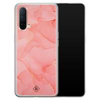 Casimoda OnePlus Nord CE 5G siliconen hoesje - Marmer roze