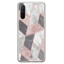 Casimoda OnePlus Nord CE 5G siliconen hoesje - Stone grid