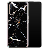 Casimoda OnePlus Nord CE 5G siliconen hoesje - Marmer zwart