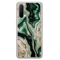 Casimoda OnePlus Nord CE 5G siliconen hoesje - Green waves