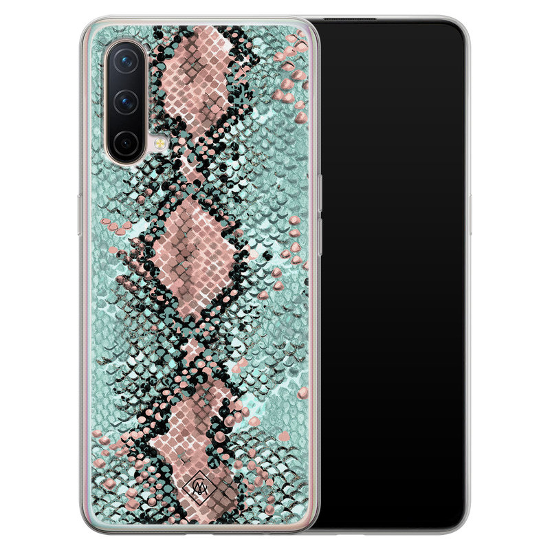 Casimoda OnePlus Nord CE 5G siliconen hoesje - Snake pastel
