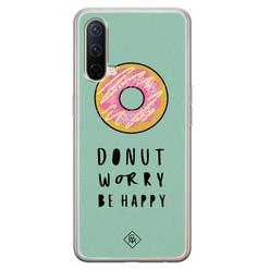 Casimoda OnePlus Nord CE 5G siliconen hoesje - Donut worry