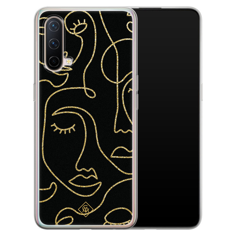 Casimoda OnePlus Nord CE 5G siliconen hoesje - Abstract faces