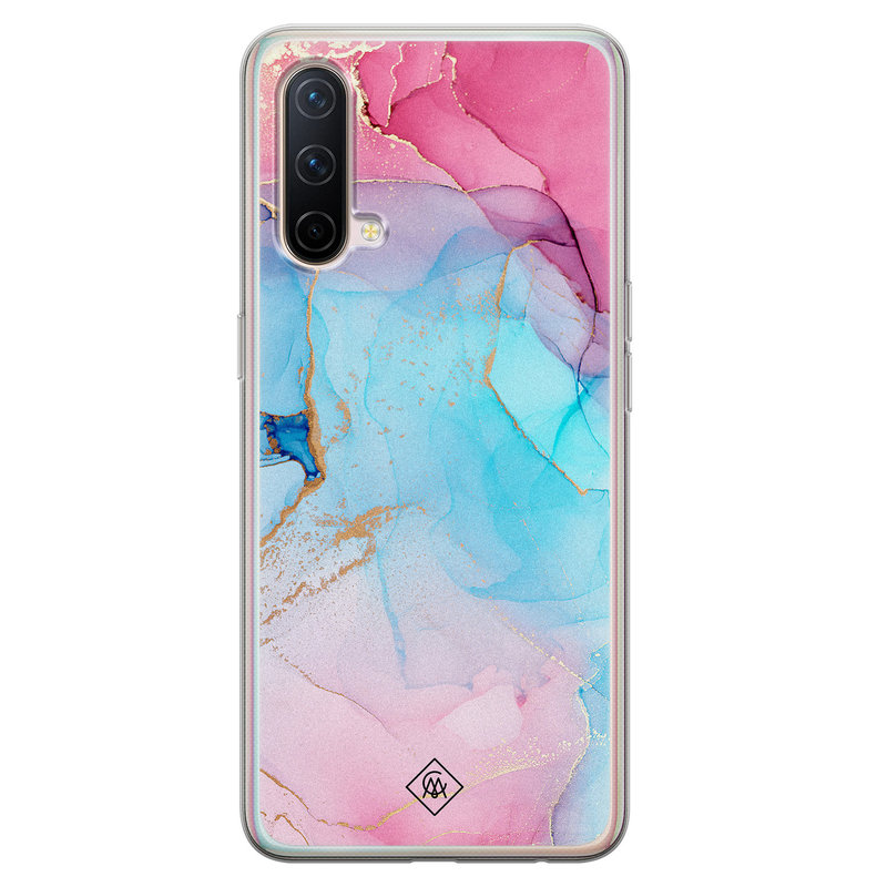 Casimoda OnePlus Nord CE 5G siliconen hoesje - Marble colorbomb