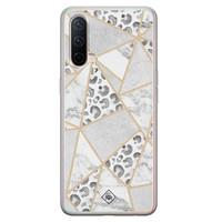 Casimoda OnePlus Nord CE 5G siliconen telefoonhoesje - Stone & leopard print
