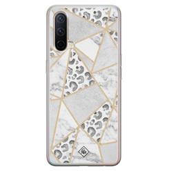 Casimoda OnePlus Nord CE 5G siliconen hoesje - Stone & leopard print