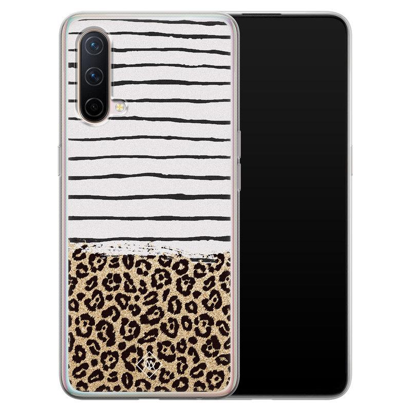 Casimoda OnePlus Nord CE 5G siliconen telefoonhoesje - Leopard lines