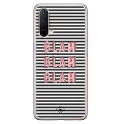 Casimoda OnePlus Nord CE 5G siliconen hoesje - Blah blah blah