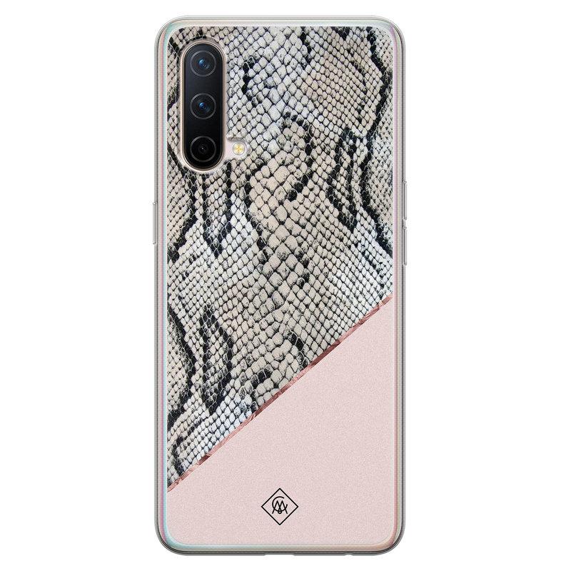 Casimoda OnePlus Nord CE 5G siliconen hoesje - Snake print
