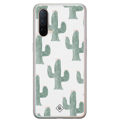 Casimoda OnePlus Nord CE 5G siliconen hoesje - Cactus print