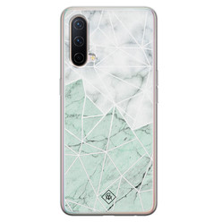 Casimoda OnePlus Nord CE 5G siliconen hoesje - Marmer mint mix