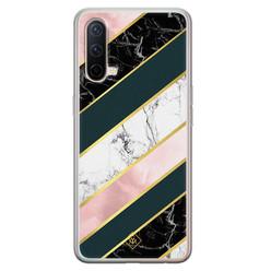 Casimoda OnePlus Nord CE 5G siliconen hoesje - Marble stripes