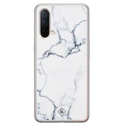 Casimoda OnePlus Nord CE 5G siliconen hoesje - Marmer grijs