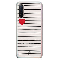 Casimoda OnePlus Nord CE 5G siliconen hoesje - Heart queen