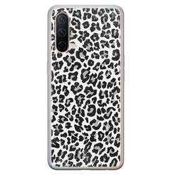 Casimoda OnePlus Nord CE 5G siliconen hoesje - Luipaard grijs