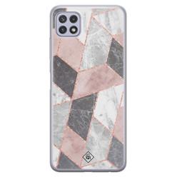 Casimoda Samsung Galaxy A22 5G siliconen hoesje - Stone grid