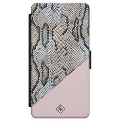 Casimoda Samsung Galaxy S21 flipcase - Snake print roze