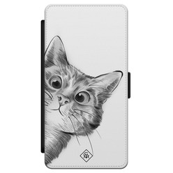Casimoda Samsung Galaxy S21 flipcase - Kat kiekeboe