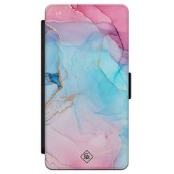 Casimoda Samsung Galaxy S21 flipcase - Marble colorbomb
