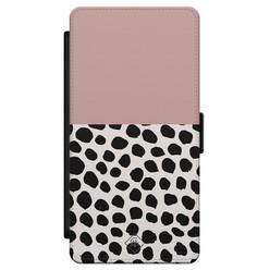 Casimoda Samsung Galaxy S21 flipcase - Pink dots