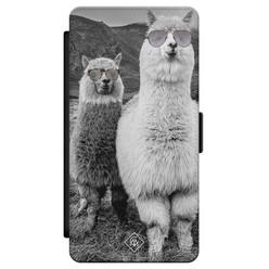 Casimoda Samsung Galaxy S21 flipcase - Llama hipster