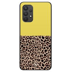 Casimoda Samsung Galaxy A32 4G hoesje - Luipaard geel