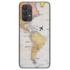 Casimoda Samsung Galaxy A32 4G hoesje - Wereldkaart