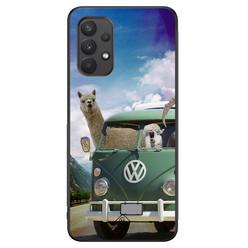 Casimoda Samsung Galaxy A32 4G hoesje - Lama adventure