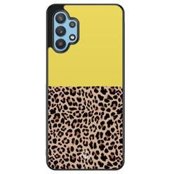 Casimoda Samsung Galaxy A32 5G hoesje - Luipaard geel