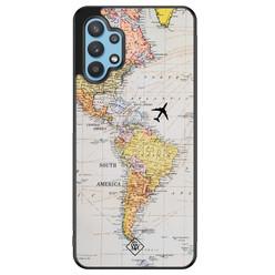 Casimoda Samsung Galaxy A32 5G hoesje - Wereldkaart
