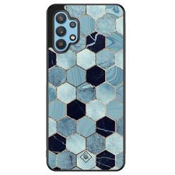 Casimoda Samsung Galaxy A32 5G hoesje - Blue cubes