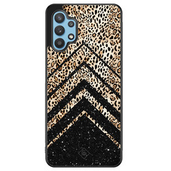 Casimoda Samsung Galaxy A32 5G hoesje - Chevron luipaard