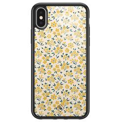 Casimoda iPhone X/XS glazen hardcase - Yellow garden
