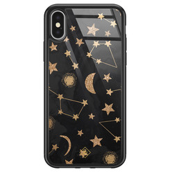 Casimoda iPhone X/XS glazen hardcase - Counting the stars