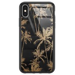 Casimoda iPhone X/XS glazen hardcase - Palmbomen