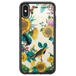Casimoda iPhone X/XS glazen hardcase - Sunflowers