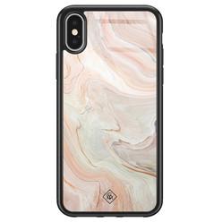 Casimoda iPhone X/XS glazen hardcase - Marmer waves