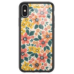 Casimoda iPhone X/XS glazen hardcase - Blossom