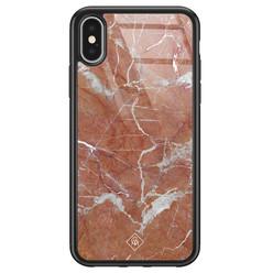 Casimoda iPhone X/XS glazen hardcase - Marble sunkissed