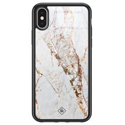 Casimoda iPhone X/XS glazen hardcase - Marmer goud