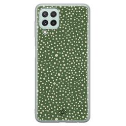 Casimoda Samsung Galaxy A22 4G siliconen hoesje - Green dots