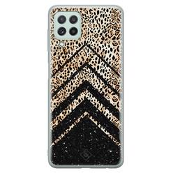 Casimoda Samsung Galaxy A22 4G siliconen hoesje - Chevron luipaard