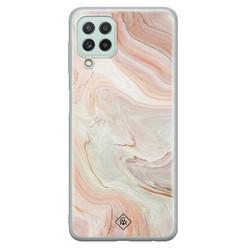 Casimoda Samsung Galaxy A22 4G siliconen hoesje - Marmer waves