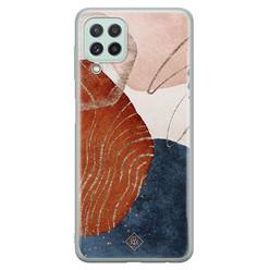 Casimoda Samsung Galaxy A22 4G siliconen hoesje - Abstract terracotta