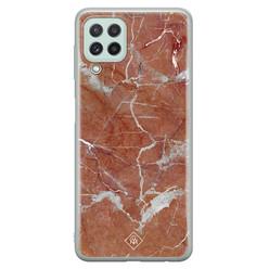 Casimoda Samsung Galaxy A22 4G siliconen hoesje - Marble sunkissed